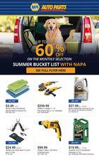 NAPA Auto Parts July Flyer in Halifax