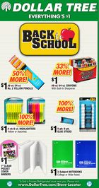 Dollar Tree Back To School Newspaper Insert in Houston