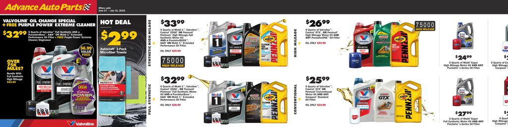 Advance Auto Parts July Online Flyer  in