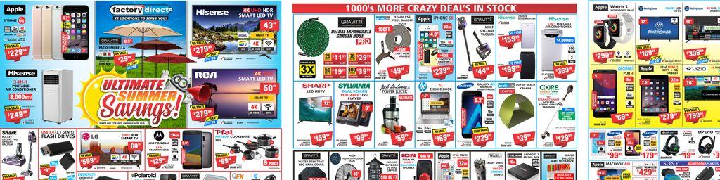Factory Direct Ultimate Summer Savings - Jul 17 to Jul 24