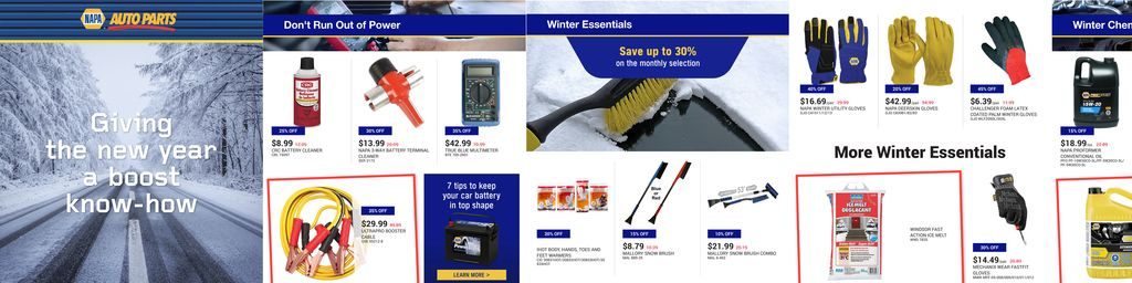 NAPA Auto Parts January Flyer in Hamilton