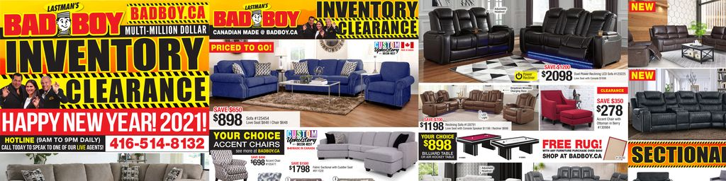 Bad Boy Furniture Weekly Ad in Hamilton