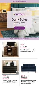 Wayfair promo in Hamilton