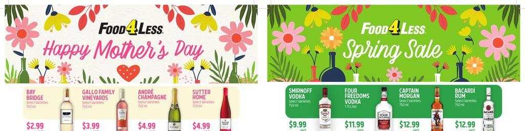 Food 4 Less Wine & Spirits Ad in Ashburn