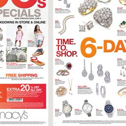Macys Time To Shop May 30 to Jun 04