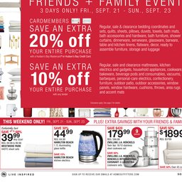 home outfitters weekly flyer sep 28 to oct 04