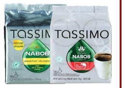 CAPSULES DE CAFÉ T-DISC TASSIMO NABOB | TASSIMO NABOB T-DISC COFFEE CAPSULES