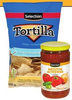 CROUSTILLES TORTILLA SELECTION │ SELECTION TORTILLA CHIPS OR SALSA