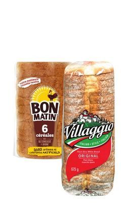 PAIN TRANCHÉ VILLAGGIO | VILLAGGIO, BON MATIN SLICED BREAD