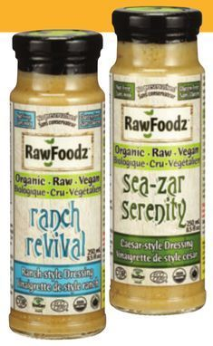 ORGANIC RAW FOODZ ORGANIC DRESSINGS