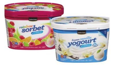SELECTION SORBET OR FROZEN YOGOURT