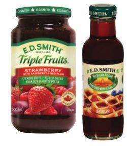E.D.Smith Triple Fruits Jam 500 ml or Table Syrup 375 ml