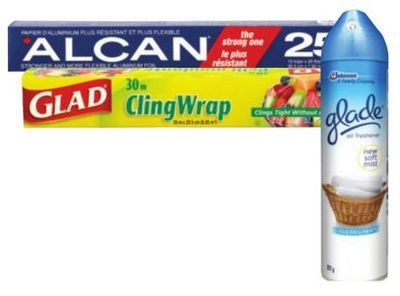 GLAD PLASTIC WRAP, ALCAN FOIL OR GLADE AIR FRESHENERS