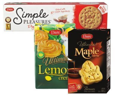 DARE OR REAL FRUIT COOKIES, BRETON OR VINTA CRACKERS