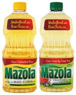 MAZOLA CORN, CANOLA OR VEGETABLE OIL