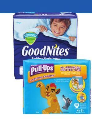 HUGGIES PULL-UPS OR GOODNITES TRAINING PANTS