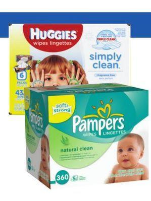 HUGGIES OR PAMPERS WIPE REFILL