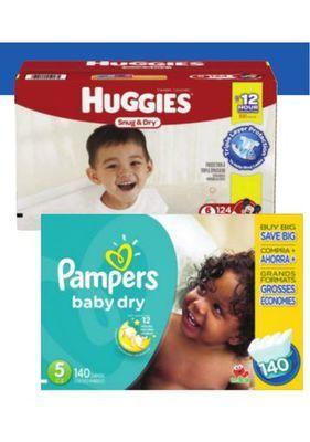PAMPERS OR HUGGIES BABY DIAPERS