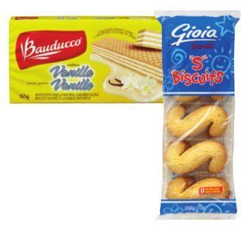 """Gioia """"S"""" Cookies 0r Bauducco Wafers"""