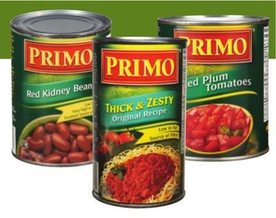 PRIMO SAUCE, TOMATOES, BEANS OR AURORA DICED TOMATOES