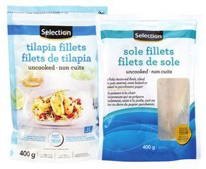 SELECTION COD, SOLE OR TILAPIA FILLETS