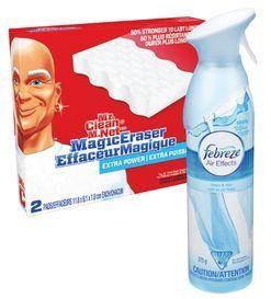 FEBREZE AIR FRESHENER, MR. CLEAN MAGIC ERASER OR MUSCLE MULTIPURPOSE CLEANERS