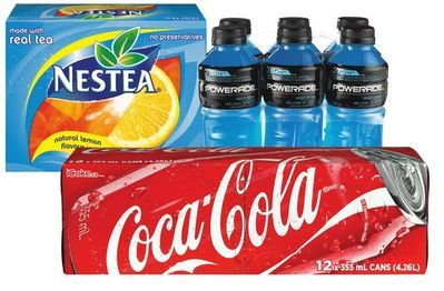 COCA-COLA SOFT DRINKS, MINUTE MAID OR NESTEA BEVERAGES, POWERADE SPORTS DRINKS, DASANI WATER OR ZICO COCONUT WATER
