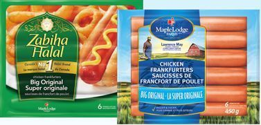 MAPLE LODGE THE BIG ORIGINAL CHICKEN WIENERS OR CHICKEN FRANKS