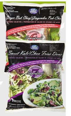SWEET KALE OR GINGER BOK CHOY SALAD KITS