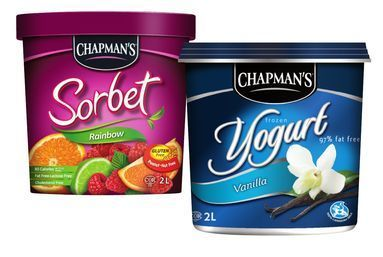 CHAPMAN'S FROZEN YOGURT, SORBET OR NOVELTIES