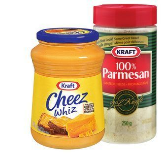 KRAFT PARMESAN CHEESE OR CHEEZ WHIZ