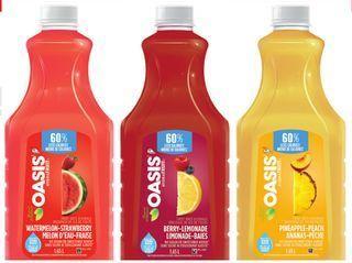 OASIS HYDRAFRUIT REFRIGERATED DRINKS