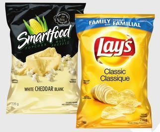 LAY'S POTATO CHIPS OR SMARTFOOD POPCORN