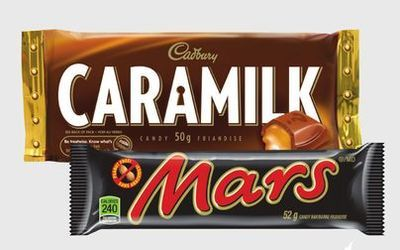 MARS OR CADBURY CHOCOLATE BARS