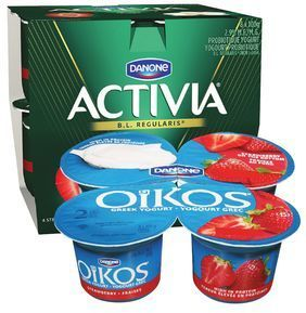 DANONE ACTIVIA OR OIKOS GREEK YOGURT