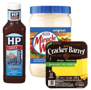 CRACKER BARREL CHEESE SLICES, CHEESE SNACKS, HP OR LEA & PERRINS SAUCE OR MIRACLE WHIP