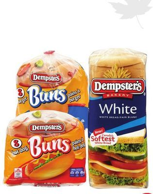 DEMSPTER'S WHITE OR WHOLE GRAINS BREAD OR HOT DOG OR HAMBURGER BUNS
