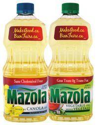 MAZOLA VEGETABLE, CORN OR CANOLA OIL