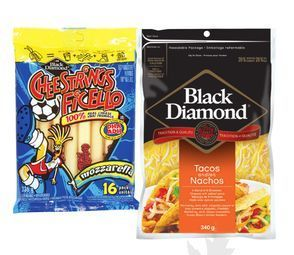 BLACK DIAMOND CHEESTRINGS OR SHREDDED CHEESE