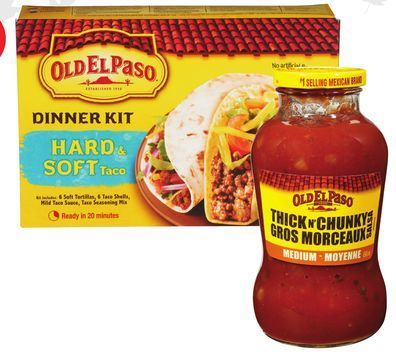OLD EL PASO TACO OR BURRITO KITS OR SALSA