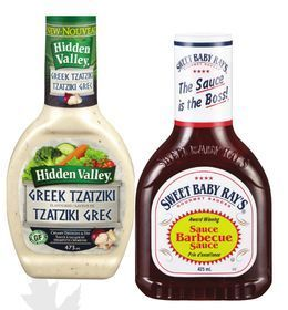 HIDDEN VALLEY DRESSING OR SWEET BABY RAY'S BBQ SAUCE