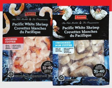 IRRESISTIBLES PACIFIC WHITE COOKED OR RAW SHRIMP