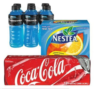 COCA-COLA SOFT DRINKS, MINUTE MAID OR NESTEA BEVERAGES, POWERADE OR ZICO COCONUT WATER