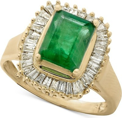 b6bb271b95ef8a EFFY Collection Gemma by EFFY Emerald (1-3/8 ct. t.w.) and Diamond (1/2 ct.  t.w.) Ring in 14k White Gold (Also in Sapphire)