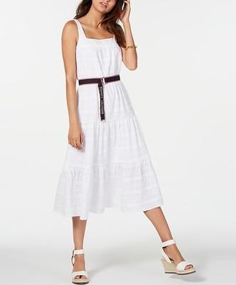 ef7b0bc1 Tommy Hilfiger Cotton Eyelet Midi Dress, Created for Macy's - Flipp