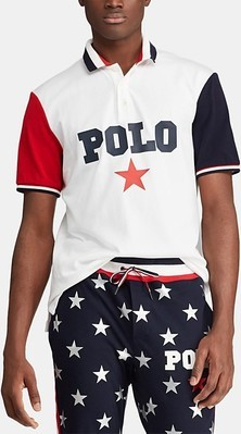 11c293b03 Polo Ralph Lauren Men's Classic-Fit Mesh Polo Americana Shirt, Created for  Macy's
