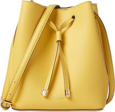 c492f54d0254e2 Lauren Ralph Lauren Dryden Debby II Mini Leather Drawstring Bag - Flipp