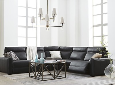 Superb Get Marzia Leather Power Reclining Sectional Sofa Ncnpc Chair Design For Home Ncnpcorg