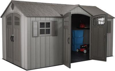Buy Lifetime® 15' x 8' Rough-Cut Dual-Entry Storage Shed in
