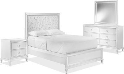Get Arctic Ice 5-Piece Queen Bedroom Set - White for $1599.0 ...